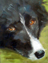 An oil painting portrait of Bennie
